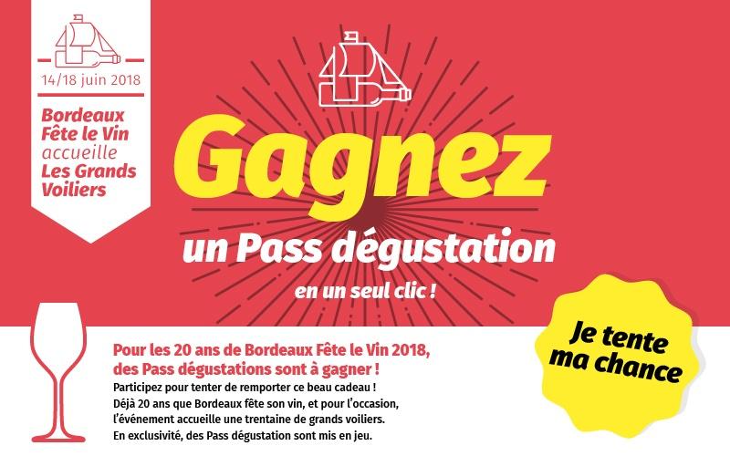 Gagnez votre Pass Bordeaux Fête le vin 2018×